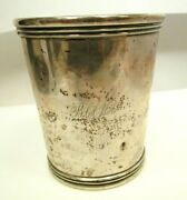 1845 Gg Schoolfield Coin Silver Julep Cup Columbia Mo Early