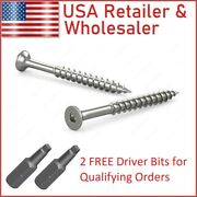 Deck Screws Square Drive Bugle Head 18-8 / 304 Stainless Steel Type 17 Drill Tip