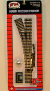 New Ho Atlas 546 22r Remote Left Hand Turnout Code 83 Snap Track