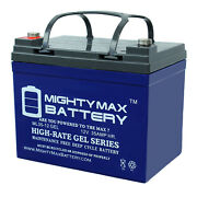 Mighty Max 12v 35ah Gel Battery Replaces Craftsman 25780 Lawn Tractor And Mower