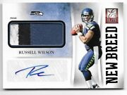 Russell Wilson - 2012 Panini Elite New Breed Rookie Prime Patch Autograph 25/25