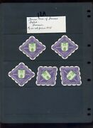 5 Vintage 1914 German Union Of Ironware Dealers Poster Stamps L853 Germany