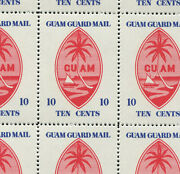 8 Vintage Guam Guard Mail Poster Stamps L1142 Usa Possessions Ww2 Asia Pacific