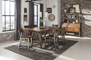 Rustic Counter Height Metal And Wood Milk Crate Finish Dining Room Furniture Set