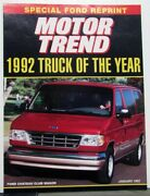 1992 Ford Truck Of The Year Article Reprint From Motor Trend Magazine
