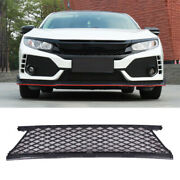 Black For Honda Civic Type R 2016-2020 Front Bumper Lower Grill Grille Mesh Trim