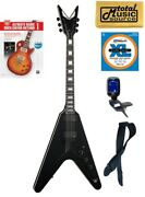 Dean V Sth Bks Solid-body Electric Guitar Satin Black Book Bundle