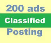 Post Your Ads On 200 Classified Sites Manually Website Local Seo High Traffic