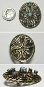 C1573 Antique Victorian 14k Solid Yellow Gold Fire Opal Convertible Pin/pendant
