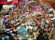 Box Jewelry Lot Bits And Pieces Junk Crafts Approx. 7+ Lbs Parts Repair 12
