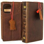 Genuine Real Leather Case For Apple Iphone 12 Mini Wallet Bible Book Cards Cover