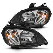 Cg Freightliner Columbia 96-13 Led High/low Beam Black Housing Amber Reflector