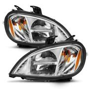 Cg Freightliner Columbia 96-13 Led High/low Beam Chrome Housing Amber Reflector