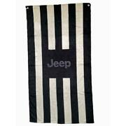 Seat Armour Towel 2 Go Front Car Seat Cover For Jeep - Black And Gray Terry Cloth