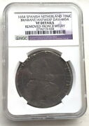 Spanish Netherlands 1654 Ducat Ngc Silver Coin,rare