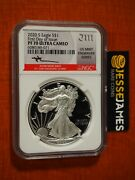 2020 S Proof Silver Eagle Ngc Pf70 First Day Of Issue Mercanti Engraver Series