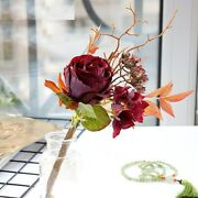 Artificial Flowers Roses Branches Retro Pk Home Ornaments Wedding Decoration