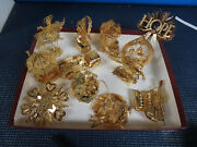 New Danbury Mint 240 Gold 20 Boxes Christmas Ornaments 23k Gold Electroplate