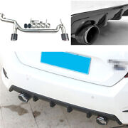 Carbon Fiber 1.0t For Honda Civic 16-2020 2-outlet Exhaust Muffler Tip Tail Pipe
