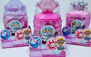 Set Of 3 Pikmi Pops Shimmer Glitter Scented Puff Perfume Cheeki Puffs Toy Pink