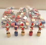 Lot Of 80 New Wooden Pinocchio Collapsing Puppets Made In Italy. 5 Tall.