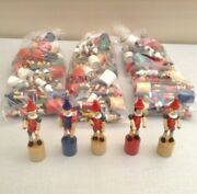 Lot Of 80 New Wooden Pinocchio Collapsing Puppets, Made In Italy. 5 Tall.