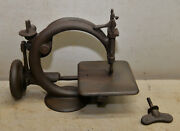 Antique 1872 Willcox And Gibbs Rare Early Sewing Machine Collectible Hand Crank