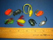 8 Rats/mice Gumball Vending Machine Dime Store 1960's/1970's Lot Vintage Toys