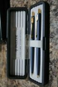 Parker Classic Set Blue And Gold Ballpoint Pen And 0.5mm Pencil New In Box