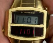 Vintage Longines Admiral Gemini Led Menand039s Watch 14k Gold Electroplated Working