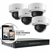 Alibi 4 Camera 8mp Outdoor Ip Dome Security Camera System With 4tb Nvr 1tb Hd