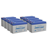 Power-sonic 12v 7ah Battery Replacement For Epcom Power Line Pl7-12 - 8 Pack