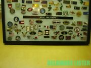 ✅mixed Lot Of 40+ Misc. Military Vietnam Vet Wwii Flags Hat/shirt Pin Collection