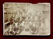 Antique Baseball Team Card Photo Early Old 1880s-1890andrsquos Cabinet Card Rare Find
