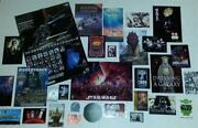 Star Wars 30 Piece Promo Lot - Posters, Postcards, Stickers, Trading Cards More