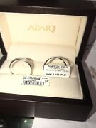 Vintage Style Pr 14ct Gold Polish Wedding Ring Band With Diamonds In Box And Paper