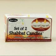 Shabbat Candles Battery Operated With L.e.d. Lights - Pack Of 6