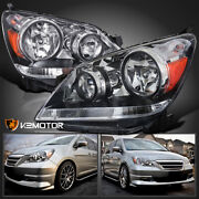 For 2005-2007 Honda Odyssey Clear Replacement Headlights Lamps Pair Left+right