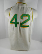 1969 Oakland Athletics Hank Bauer 42 Game Used White Flannel Jersey Dp04045