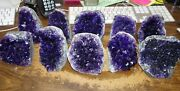 Wholesale Lot Of 10 Lg. Amethyst Crystal Cluster Geode From Uruguay Cathedral