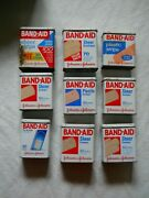 9 Vintage Metal Band Aid Tin Containers Johnson And Johnson Advertising Logo Boxes