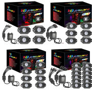 4/6/8/12 Pods Rgb Led Rock Light Wireless Bluetooth Music Off Road Multi-color