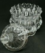 Candy Jar With Lid Transparent Crystal Storage Jar Glass Storage Container Bowl