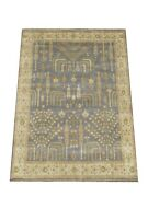 8x10 Willow Tree Oushak Hand-knotted Wool Rug Gray Oriental Carpet 8'2 X 9'9