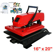 16and039and039x20 Swing Away Manual 3d Sublimation T-shirt Bag Plate Heat Press Machine