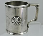 Gorham Coin Silver Applied Medallions Cup 1865 25 Savings Bond Soeffing Book