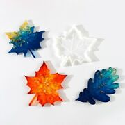 Cup Pad Mold Wine Rack Crystal Mold Leaf Diy Hand Made Maple Leaf Mold Silicone