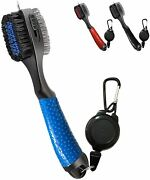 Retractable Golf Club Brush - Oversized Brush Head Iron Cleaner 3 Colors Us Ship