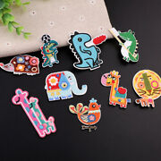 1pcs Animal Theme Embroidered Patches Sew On Badge Clothing Handbag Decor Patch