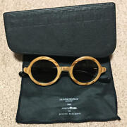 Oliver Peoples Andtimes Ryuichi Sakamoto Wood Frame Glasses With Piano Type Case